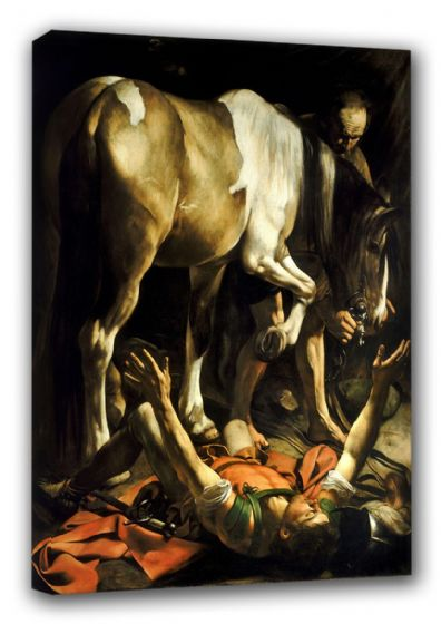 Caravaggio, Michelangelo Merisi da: The Conversion of St. (Saint) Paul. Religious Fine Art Canvas. Sizes: A3/A2/A1 (00323)